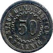 50 Pfennig (Gummersbach) [Stadt, Rheinprovinz] – obverse
