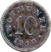 10 Pfennig (Schauenstein) [Private, Hessen-Nassau, H. Heye Glasfabrik] – reverse