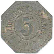 5 Pfennig (München) [Private, Bavaria, J.A. Maffei] – reverse