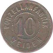 10 Pfennig (Weiden) [Private, Bavaria, Porzellanfabrik] – obverse