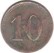10 Pfennig (Weiden) [Private, Bavaria, Porzellanfabrik] – reverse