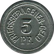 5 Pfennig (Traunstein) [Zivilgefangenenlager, Bayern] – reverse