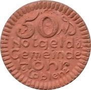 50 Pfennig (Höhr) [Stadt, Hesseh-Nassau] – obverse