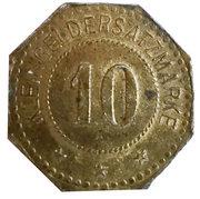 10 Pfennig (Frauenau) [Private, Bayern, Krystallglasfabrik] – reverse