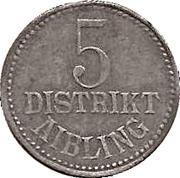 5 Pfennig (Aibling) [Distrikt, Bayern] – obverse