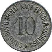 10 Pfennig (Wasserburg am Inn) [Bezirksamt, Bayern] – reverse