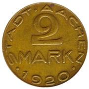 2 Mark (Aachen) [Stadt, Rheinprovinz] – obverse