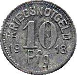 10 Pfennig (Apolda) [Stadt, Sachsen-Weimar-Eisenach] – reverse
