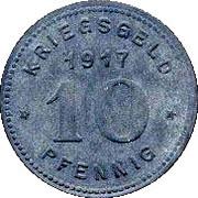 10 Pfennig (Witten) [Stadt, Westfalen] – reverse