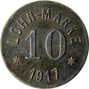 10 Pfennig (Höhn) [Private, Hessen-Nassau, Gewerkschaft Alexandria] – reverse