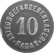 10 Pfennig (Sagan) [POW, Silesia] – obverse