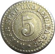 5 Pfennig (Wyk auf Föhr) [Private, Schleswig-Holstein, Spar und Leihkasse] – obverse
