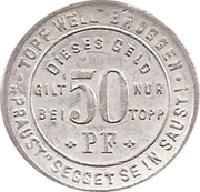 50 Pfennig (Soest) [Private, C. Topp] – reverse