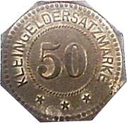 50 Pfennig (Pinneberg) [Private, Schleswig-Holstein, Pinneberger Bank] – reverse