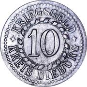 10 Pfennig (Dieburg) [Kreis, Hessen] – reverse