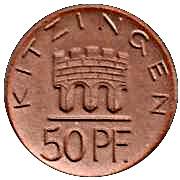 50 Pfennig (Kitzingen) [Stadt, Bayern] – obverse