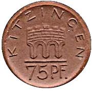 75 Pfennig (Kitzingen) [Stadt, Bayern] – obverse