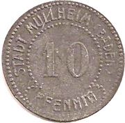 10 Pfennig (Müllheim) [Stadt, Baden] – obverse
