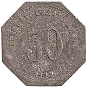 50 Pfennig (Laufen) [Kommunalverband, Bayern] – reverse