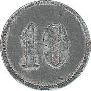 10 Pfennig (Münsingen) [POW, Württemberg] – reverse