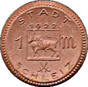 1 Mark (Schleiz) [Stadt, Reuß jüngerer Linie, Thuringia] – obverse