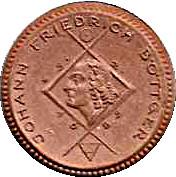 1 Mark (Schleiz) [Stadt, Reuß jüngerer Linie, Thuringia] – reverse