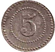 5 Pfennig (Ulm an der Donau) [POW, Württemberg] – reverse