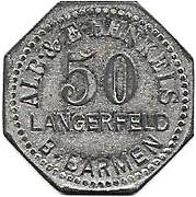 50 Pfennig (Langerfeld) [Private, Rheinprovinz, Alb. & E. Henkels] – obverse