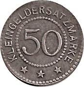 50 Pfennig (Crossen) [Stadt, Brandenburg] – reverse