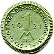 1 Mark (Waldenburg) [Stadtgemeinde, Schlesien] – reverse