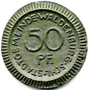 50 Pfennig (Waldenburg) [Stadtgemeinde, Schlesien] – reverse