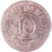 10 Pfennig (Cassel) [POW, Hessen-Nassau] – obverse