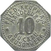 10 Pfennig (Magdeburg-Buckau) [Private, Provinz Sachsen, Fried. Krupp AG Grusonwerk] – obverse