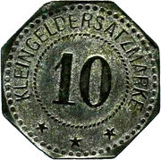 10 Pfennig (Magdeburg-Buckau) [Private, Provinz Sachsen, Fried. Krupp AG Grusonwerk] – reverse