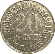 20 Pfennig (Dresden) [Strassenbahn, Saxony] Treuhand Bank – obverse
