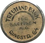 20 Pfennig (Dresden) [Strassenbahn, Saxony] Treuhand Bank – reverse