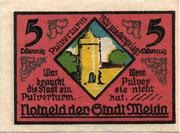 5 Pfennig (Weida) – reverse