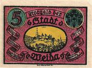 5 Pfennig (Weida) – obverse