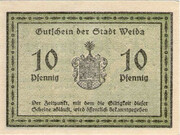10 Pfennig (Weida) – reverse