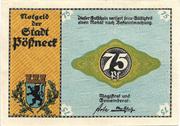 75 Pfennig (Pößneck; Industry Series) – obverse