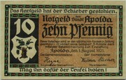 10 Pfennig (Apolda) – obverse