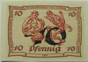 10 Pfennig (Arnstadt; Caricature Series - Issue 1) – reverse