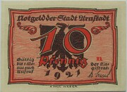 10 Pfennig (Arnstadt; Caricature Series - Issue 3) – obverse