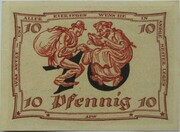 10 Pfennig (Arnstadt; Caricature Series - Issue 3) – reverse