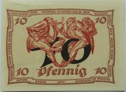 10 Pfennig (Arnstadt; Caricature Series - Issue 4) – reverse