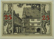 25 Pfennig (Arnstadt; Notables and Sights Series - Issue 6 - Schwarzburger Hof) – reverse