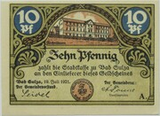 10 Pfennig (Bad Sulza; Spa Series - Issue A) – obverse
