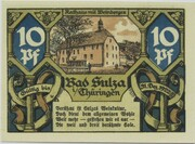 10 Pfennig (Bad Sulza; Spa Series - Issue A) – reverse