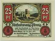 25 Pfennig (Bad Sulza; Spa Series - Issue B) – obverse