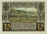 75 Pfennig (Bad Sulza; Spa Series - Issue E) – reverse